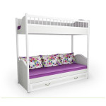 Белые двухъярусные кровати