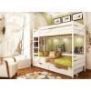 Белые деревянные двухъярусные кровати
