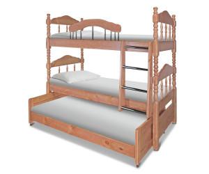 Кровать Точеная 3-х ярусная
