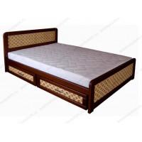 Кровать Ткань из массива березы