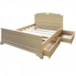 Кровати из натурального дерева с ящиками