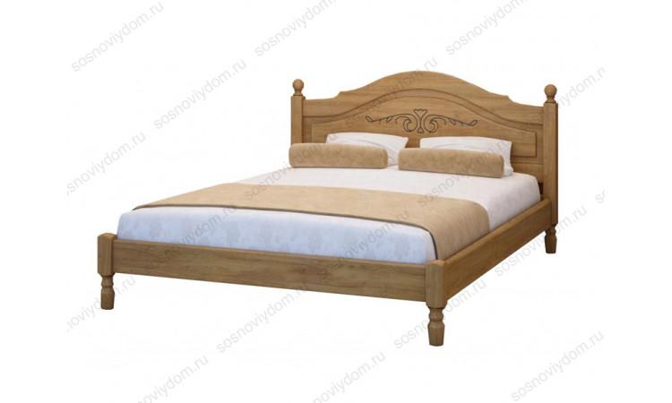 Кровать Филенка с рисунком из массива березы