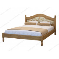 Кровать Филенка с тканью из березы