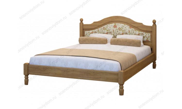 Кровать Филенка с тканью из массива березы