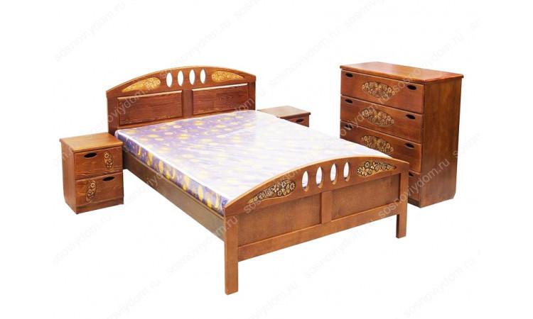 Кровать Галатея из массива березы