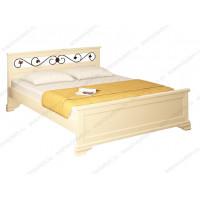 Кровать Лира с ковкой из березы