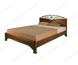 Кровать Омега-3 из массива березы