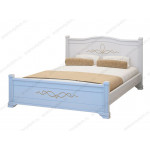 Белые кровати из массива