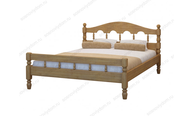 Кровать Точенка-3 из массива березы