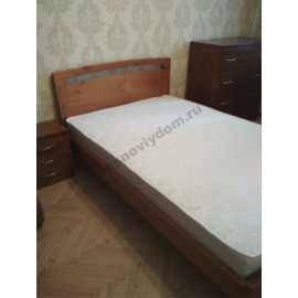 Кровать Бали 140х200,цвет старый орех-2