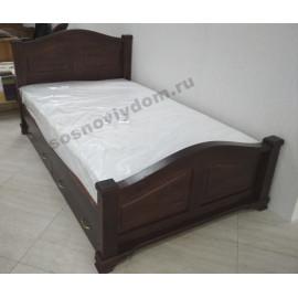 Кровать Европа с ящиками,цвет старый орех-3
