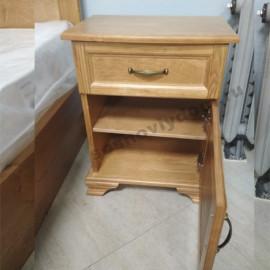 Тумбочка ящик+дверка,старый орех-2
