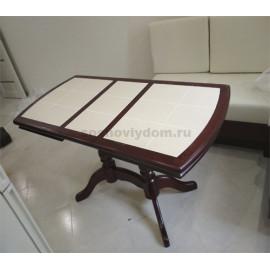 Стол№16 2-х балясный с плиткой,мокко-3