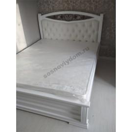 Кровать Сиена с ковкой,белая