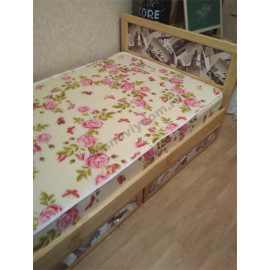 Кровать Ткань,классический орех-1