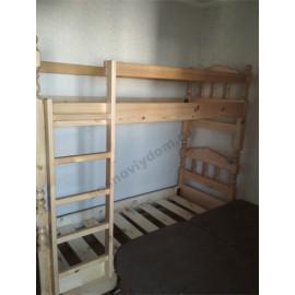 Кровать 2-х ярусная,цвет старый орех-1