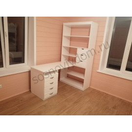 Письменный стол №11,цвет белый