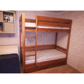 Кровать Нота 2-х ярусная,старый орех-2
