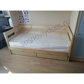 Кровать Нота детская,натуральный