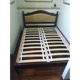 Кровать Филенка с тканью,старый орех-3