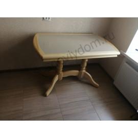 Стол с керамогранитом,цвет натуральный