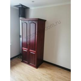 Шкаф массив-2, мокко-3