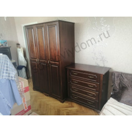 Комод и шкаф,классический орех-3