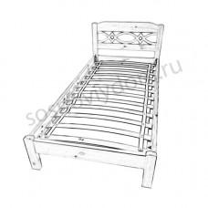 Схема сборки односпальной кровати